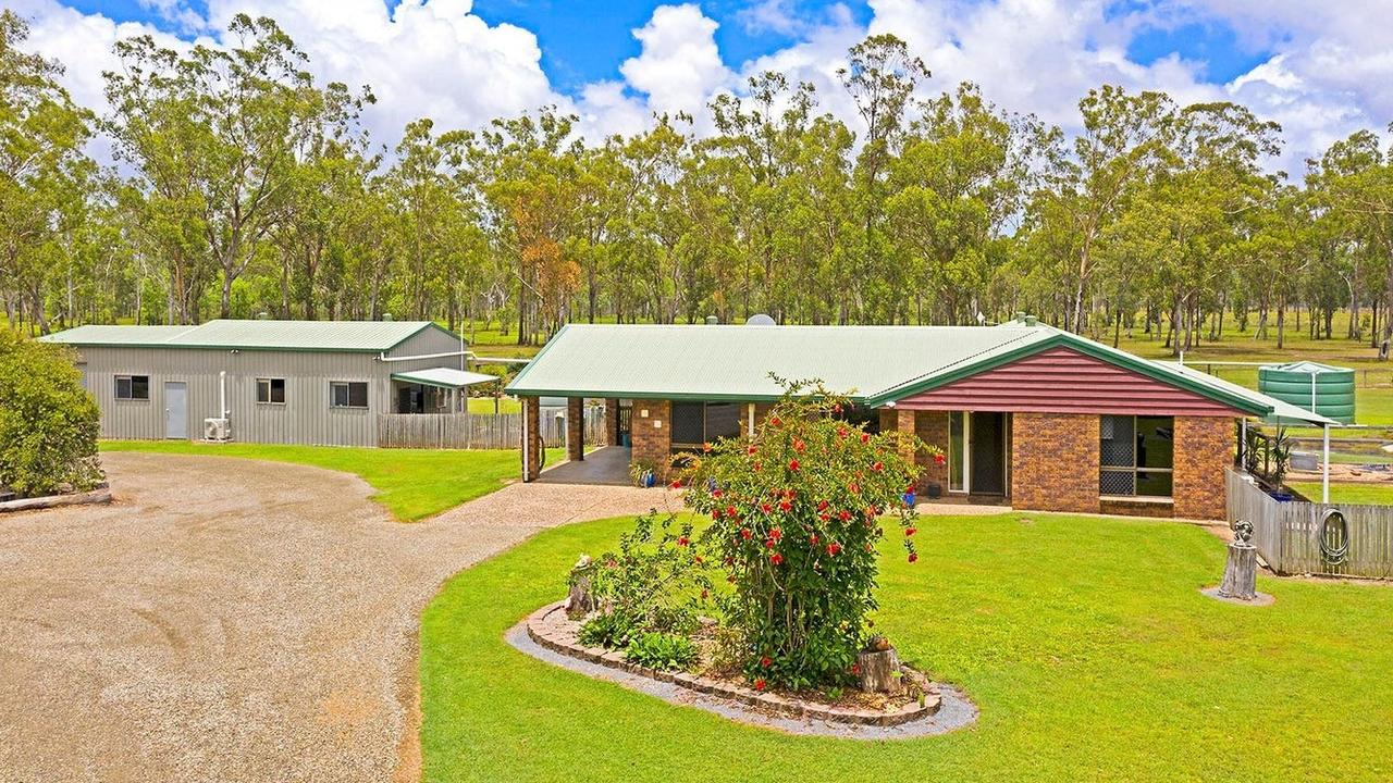 On the property is a solid brick home with four bedrooms, two bathrooms and two living rooms. Picture: Contributed
