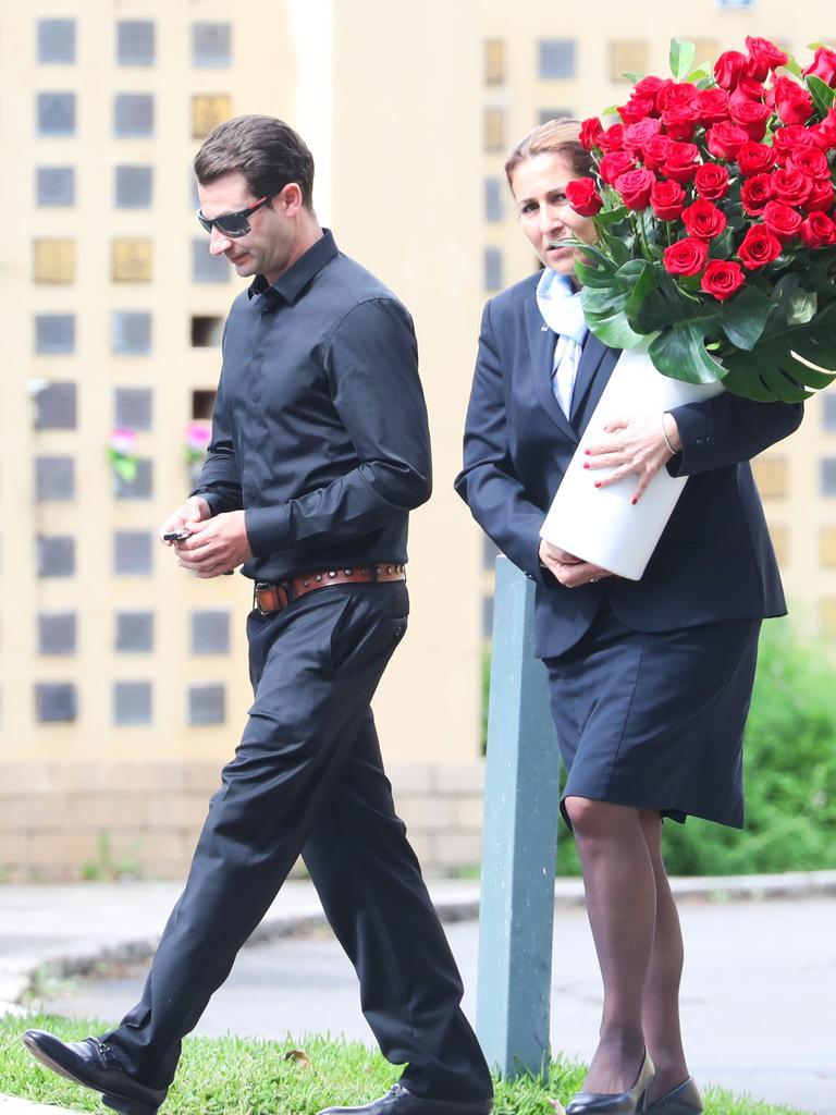 Anthony Koletti at the memorial for missing businesswoman Melissa Caddick. Picture John Grainger
