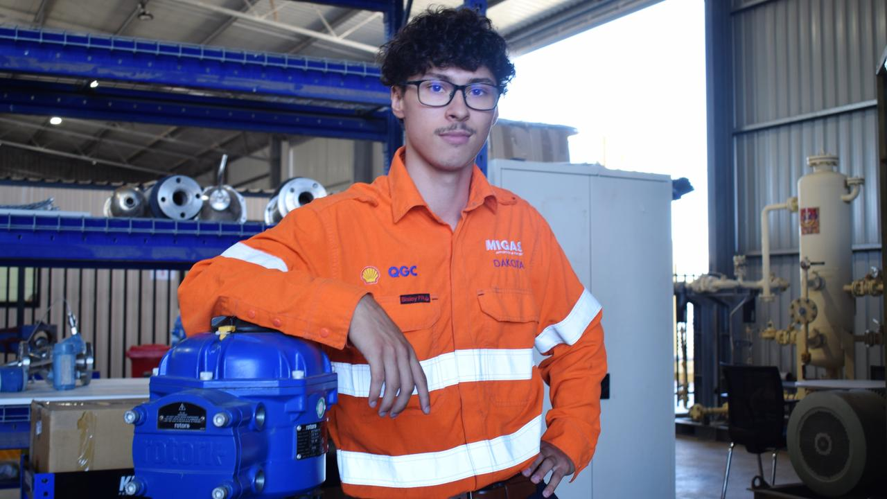 NEW BEGINNINGS: Father of a two-year-old boy, and Shell QGC electrical and instrumentation technician apprentice Dakota Girdler. Pic: Peta McEachern