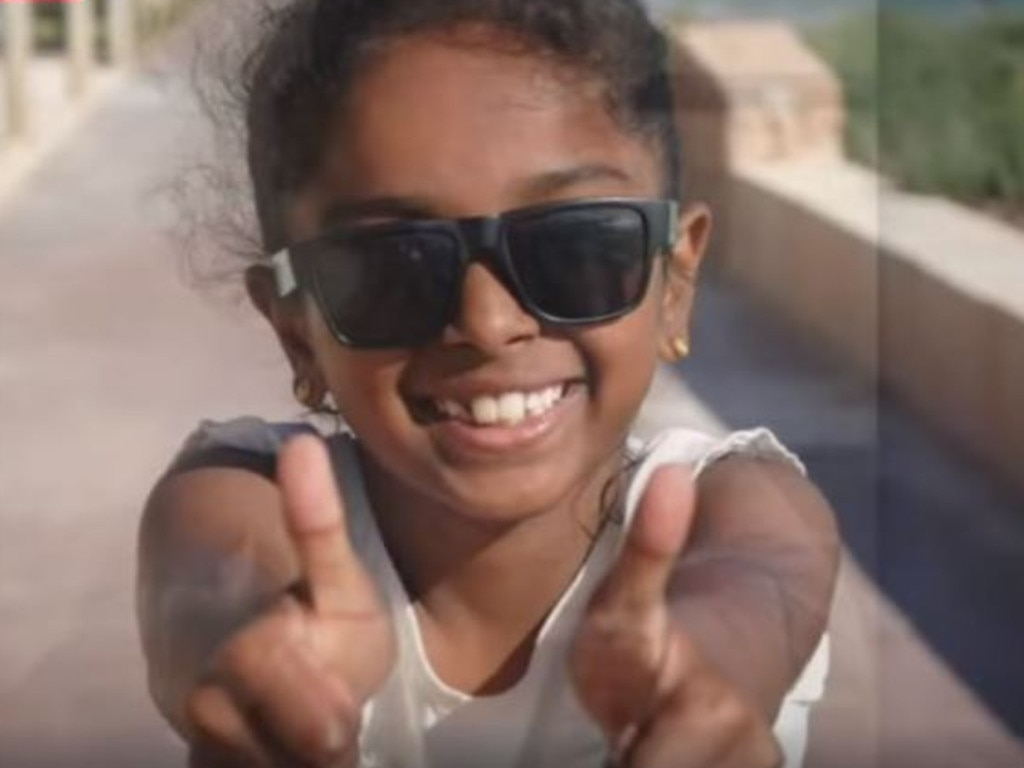 Aishwarya, 7, died at Perth Children's Hospital over the Easter weekend. Picture: 9 News