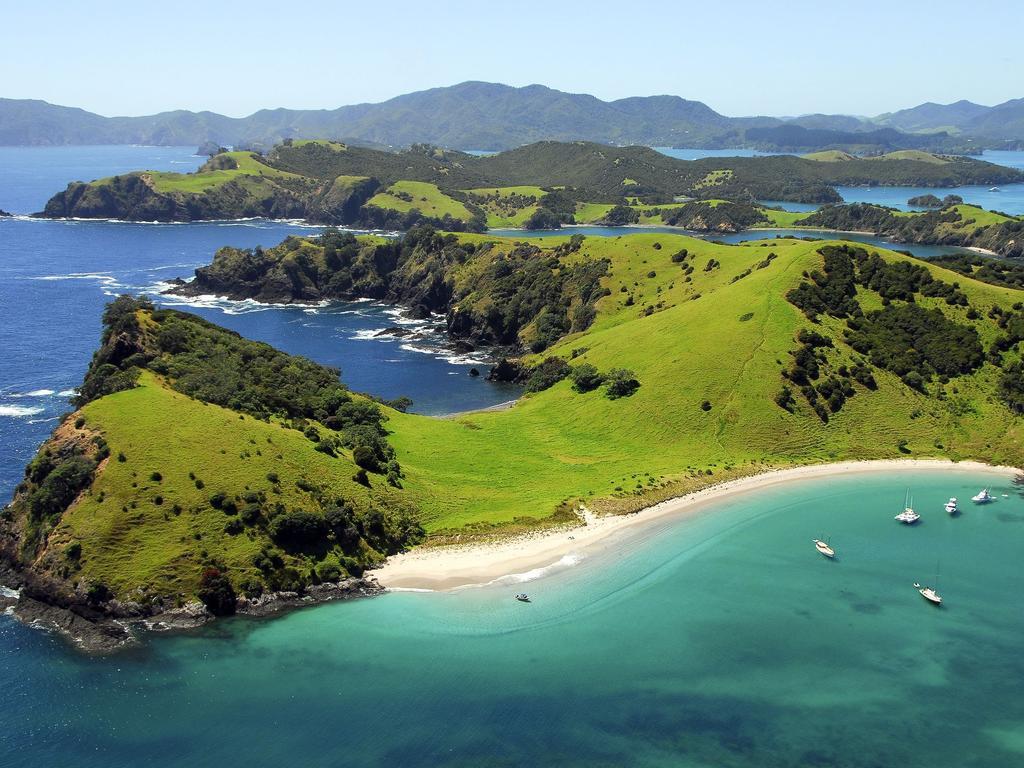 Bay of Islands in New Zealand.