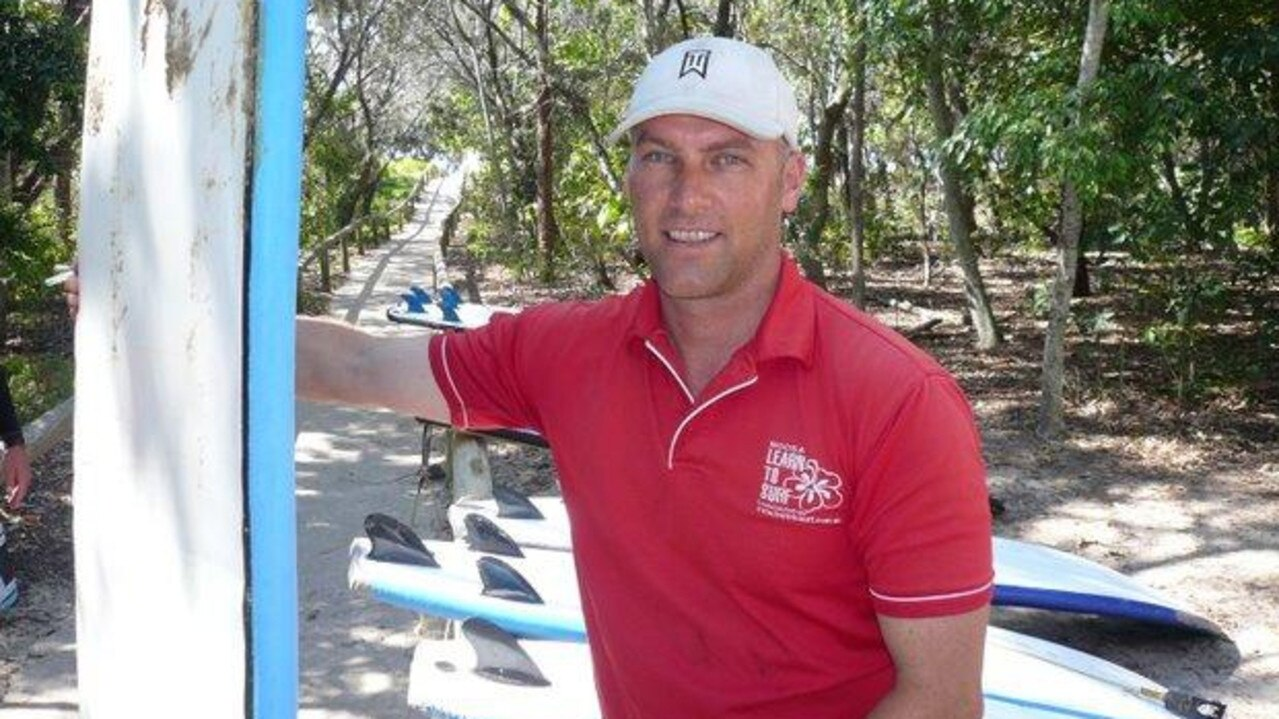 Merrick Davis of Noosa Learn to Surf has been battling his way through a wet Easter holidays.