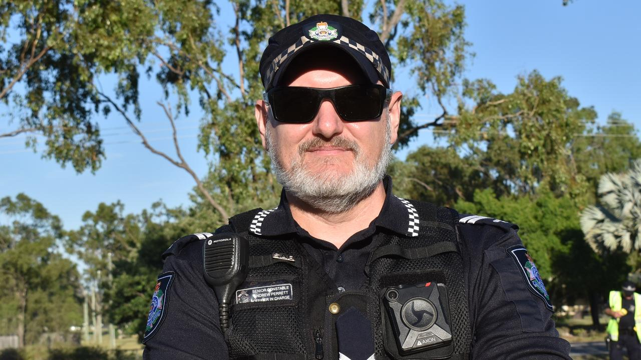 Senior Constable Andrew Perrett 'loves every minute' of his sea change to Nebo. Picture: Lillian Watkins