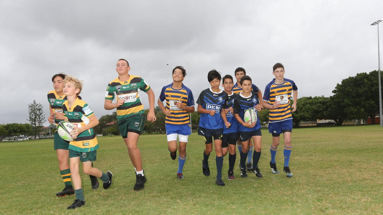 Gold Coast Eagles will host King of the Country rugby tournament next weekend, live-streamed across the News Australia Network. Pictured at Southport, some of the Gold Coast Junior Rugby Players taking Part in the Tournament. Pic Mike Batterham
