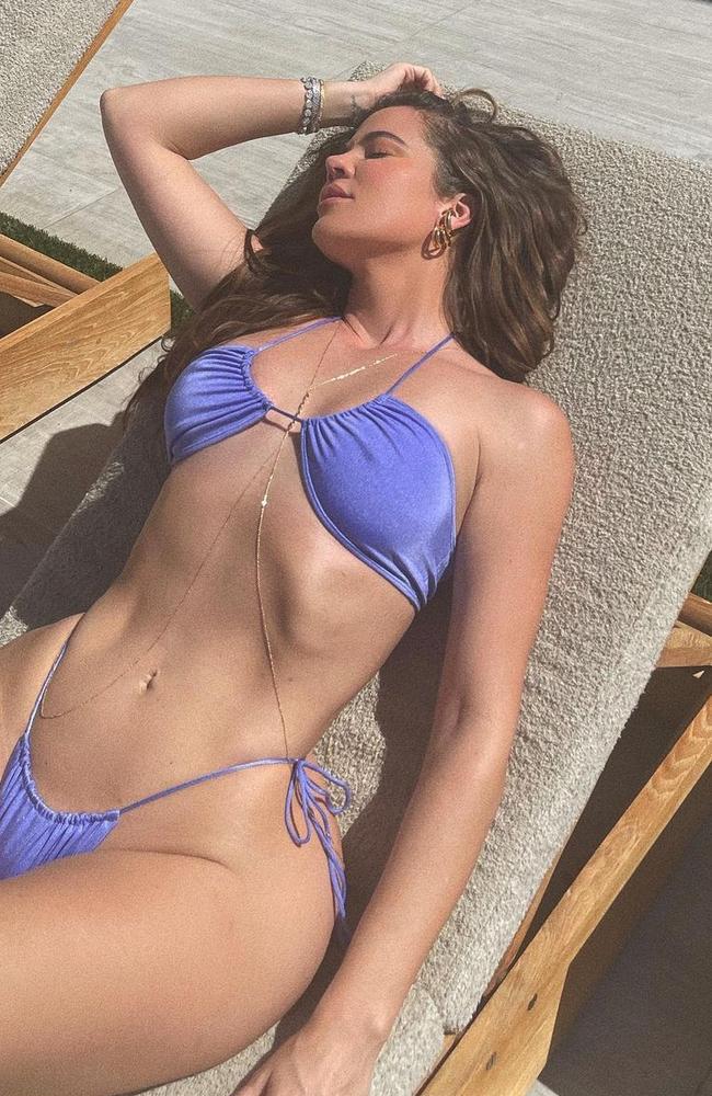 One of Khloe Kardashian's own bikini photos on her Instagram page. Picture: Instagram/khloekardashian