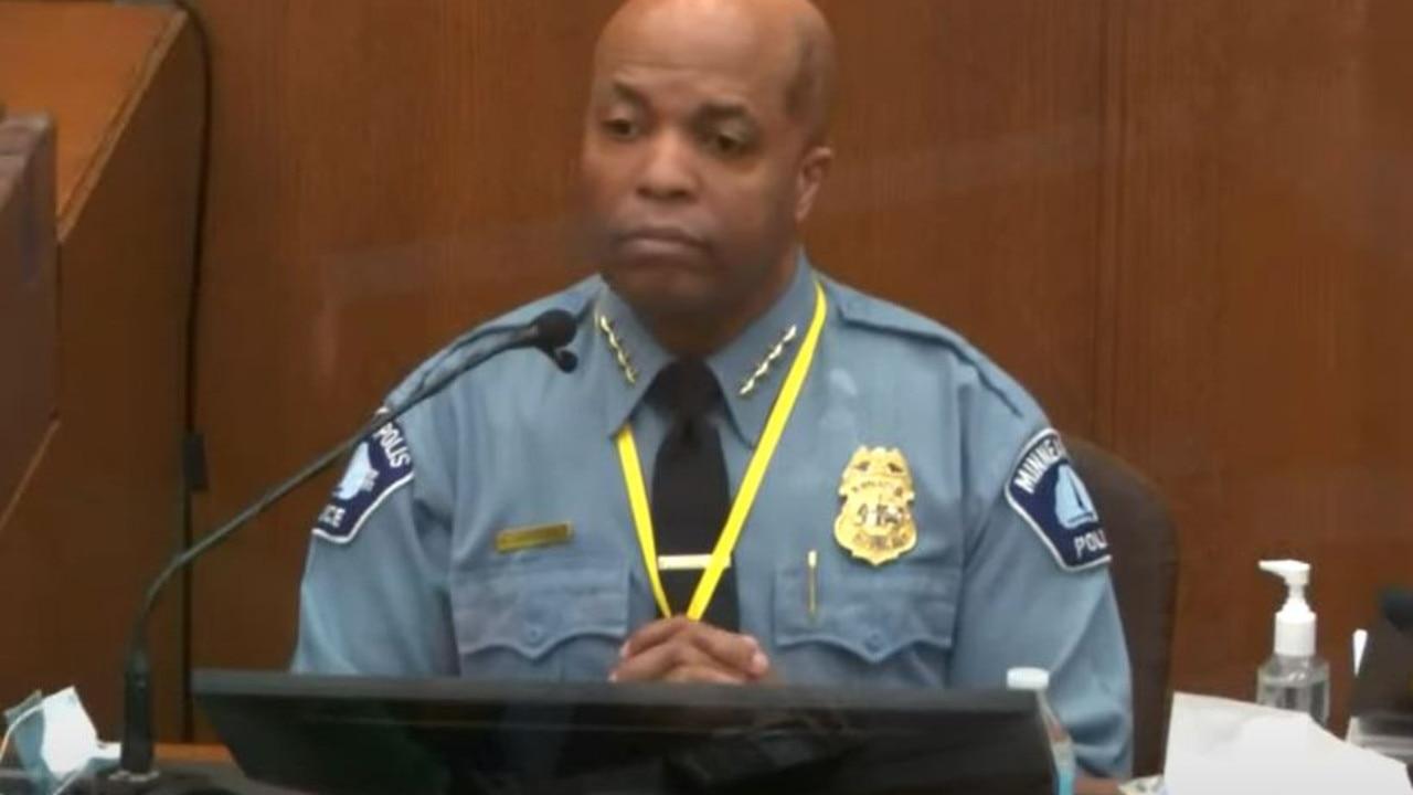 Minneapolis Police Chief Medaria Arradondo on the stand today.