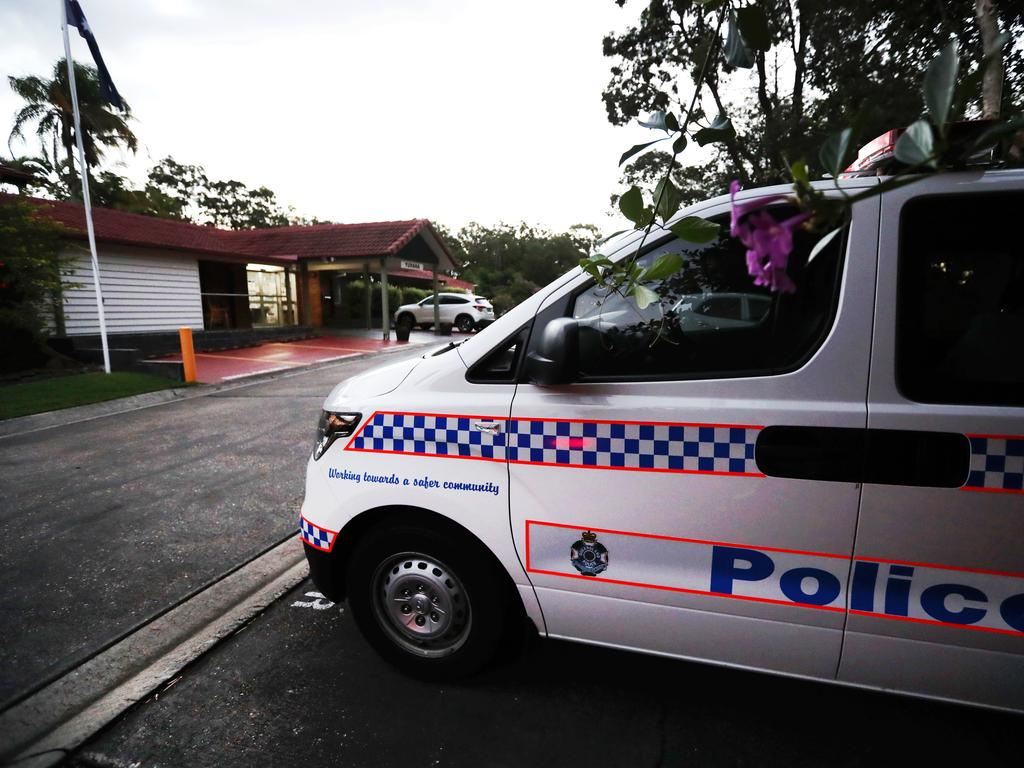 Police at the aged care home. Picture: Nigel Hallett