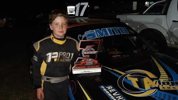 Young Maryborough speedway racer takes first podium finish
