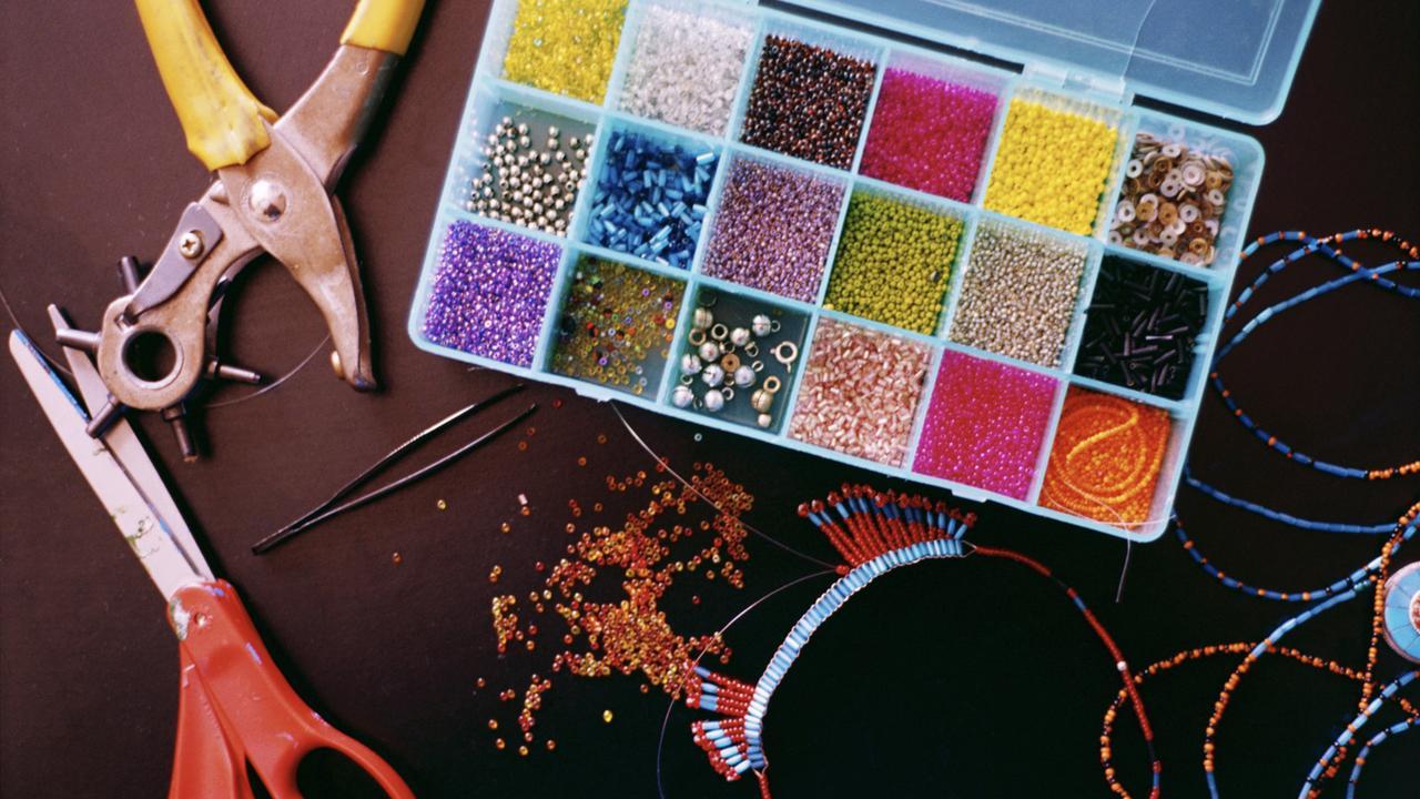 Generic image: craft; beading, scissors.