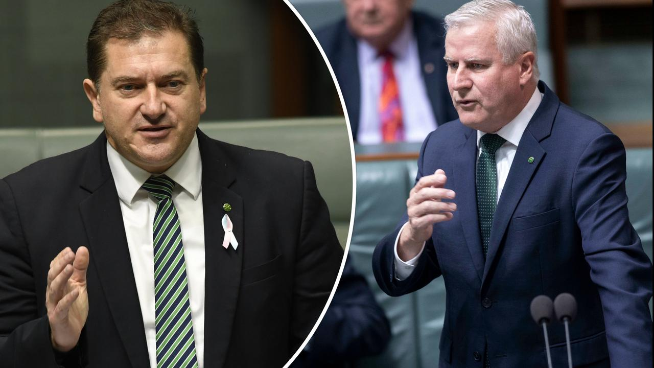 Wide Bay MP Llew O'Brien (left) fires back at criticism of ministerial intervention for grant funding amid revelations one third of approvals in a recent round were made following Ministerial intervention by Deputy Primie Minister Michael McCormack and an unnamed panel and despite not being recommended by the department