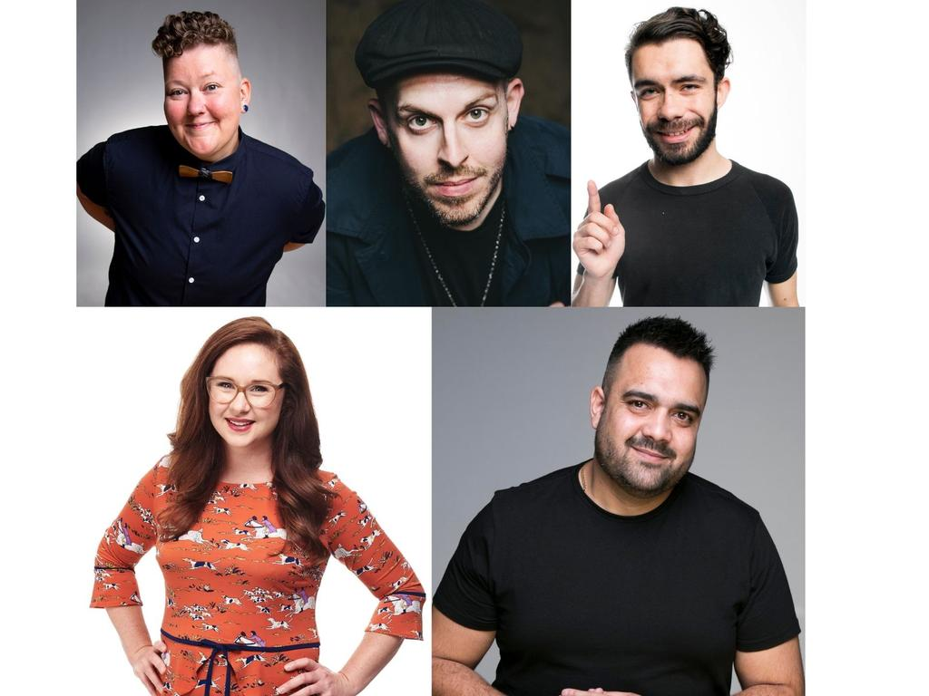 Kirsty Weback, Dane Simpson, Matt Ford, Mel Buttle and Carl Donnell are in the line up for the Melbourne Comedy Festival Roadshow at the Pilbeam Theatre later this month.
