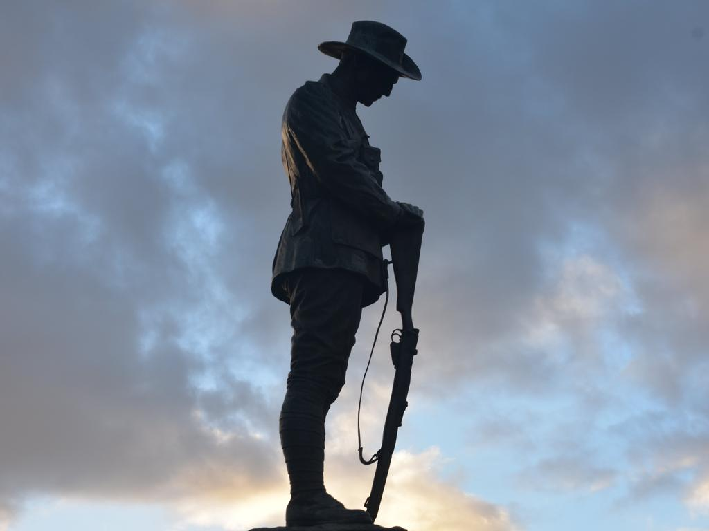 REMEMBRANCE: Picture of the digger statue at the Anzac cenotaph in Dalby, Queensland. Picture: Michael Doyle