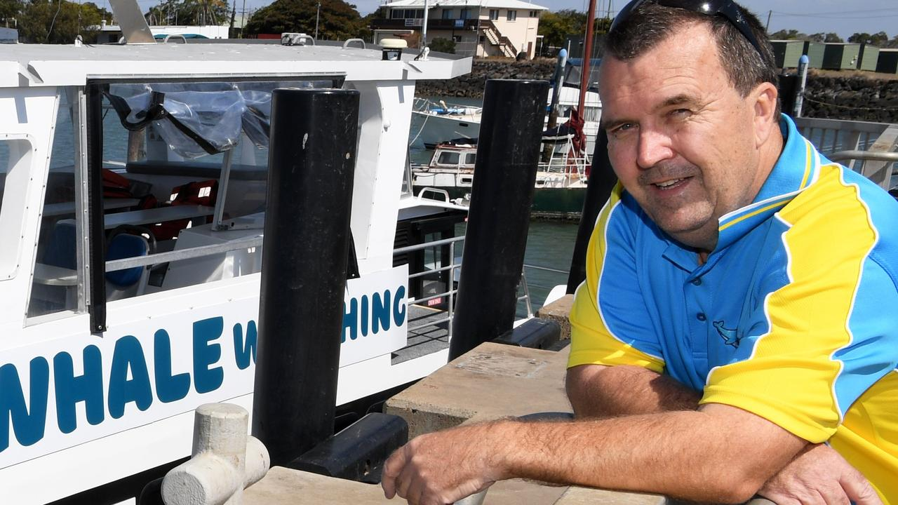 Ian Brookfield of Bundaberg Whale Watching has been charged for operating a cruise without a licence.