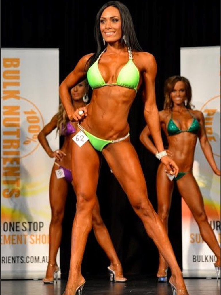 Samantha Jane Heron in a bodybuilding competition. Picture Instagram