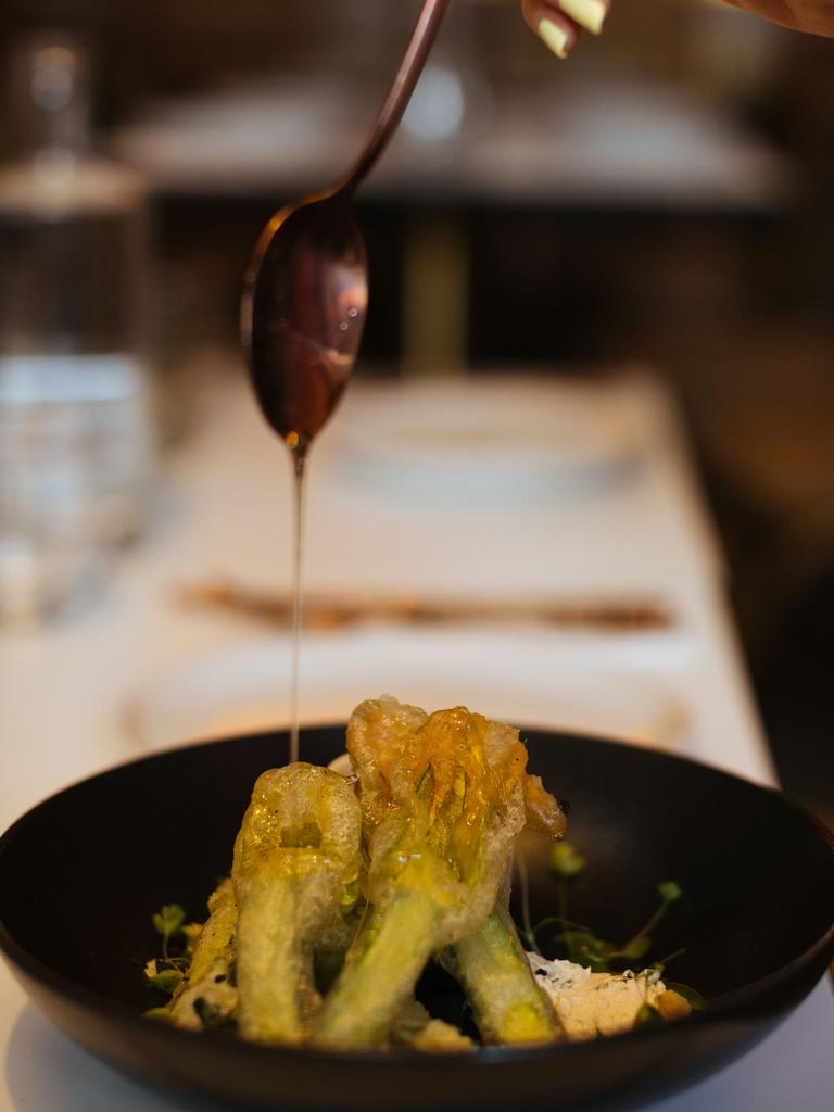 Zucchini flowers at the new Byron Bay eatery.