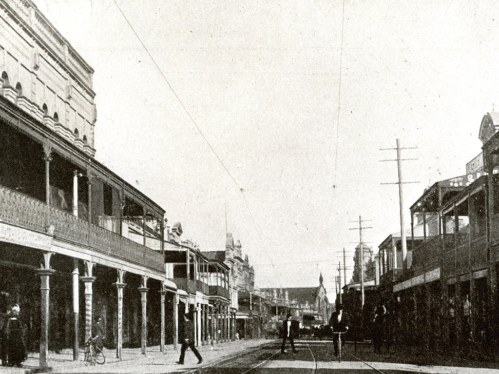 Macdonaldtown was a short walk from King St Newtown, pictured in the 1890s. Credit: City of Sydney archives
