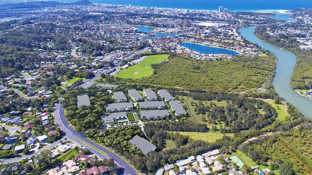 An artist's impression of the proposed GemLife retirement village at Currumbin Waters
