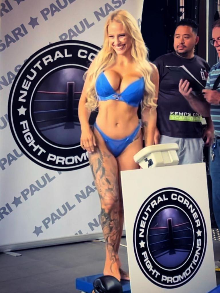 She enjoys wearing lingerie to her weigh-ins.