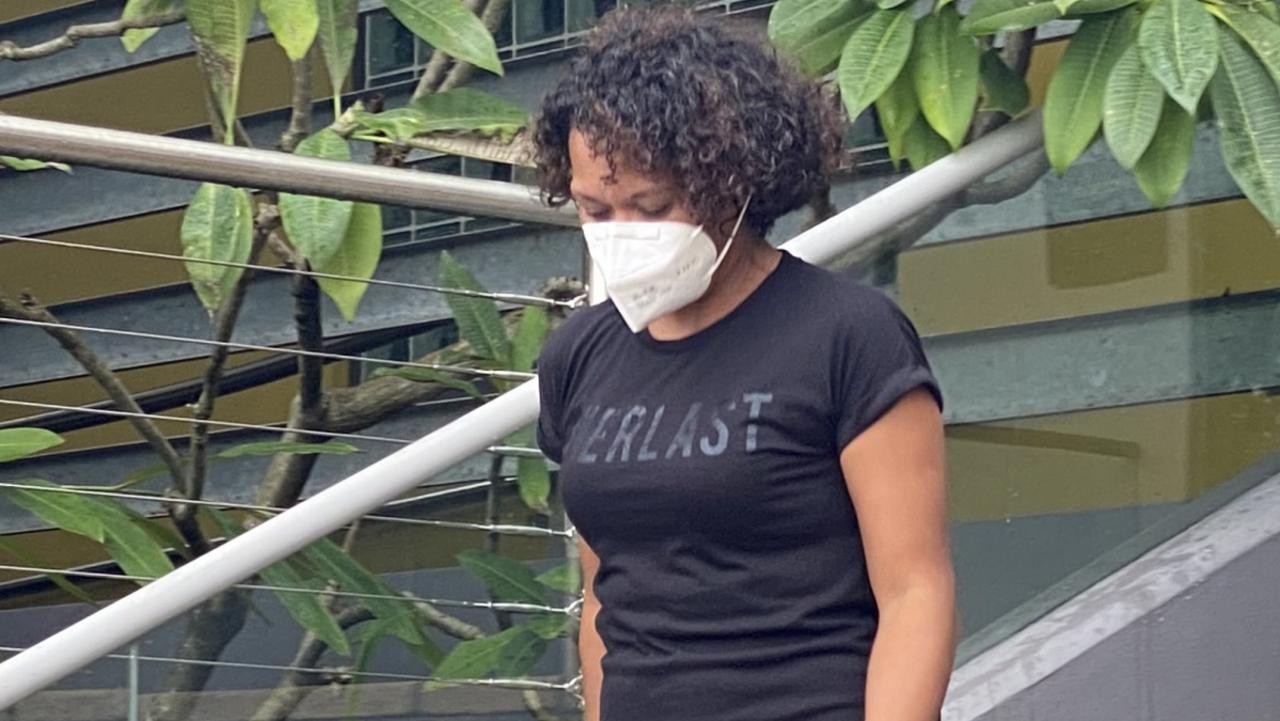 Simona Helen Kei leaving Caloundra Magistrates Court on April 7.