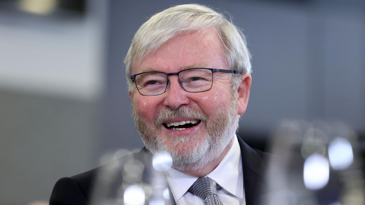 Former Prime Minister Kevin Rudd gave a group of partygoers a lift after being mistaken for an Uber driver. Picture: NCA NewsWire / Gary Ramage