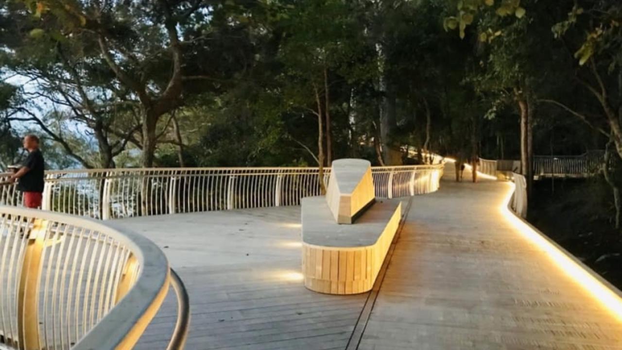 Noosa's award-winning $6.5m Park Road boardwalk has a down market double across the road.