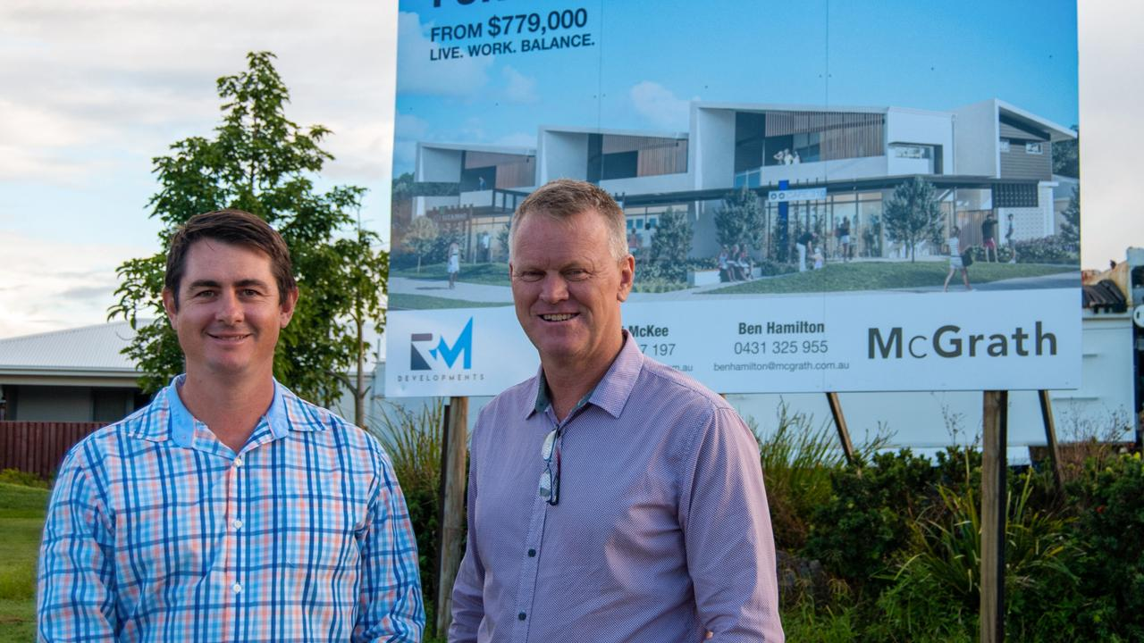 Josh Myers and Todd McKee are looking forward to construction starting this year at the residential and retail complex at 310 University Way, Sippy Downs.