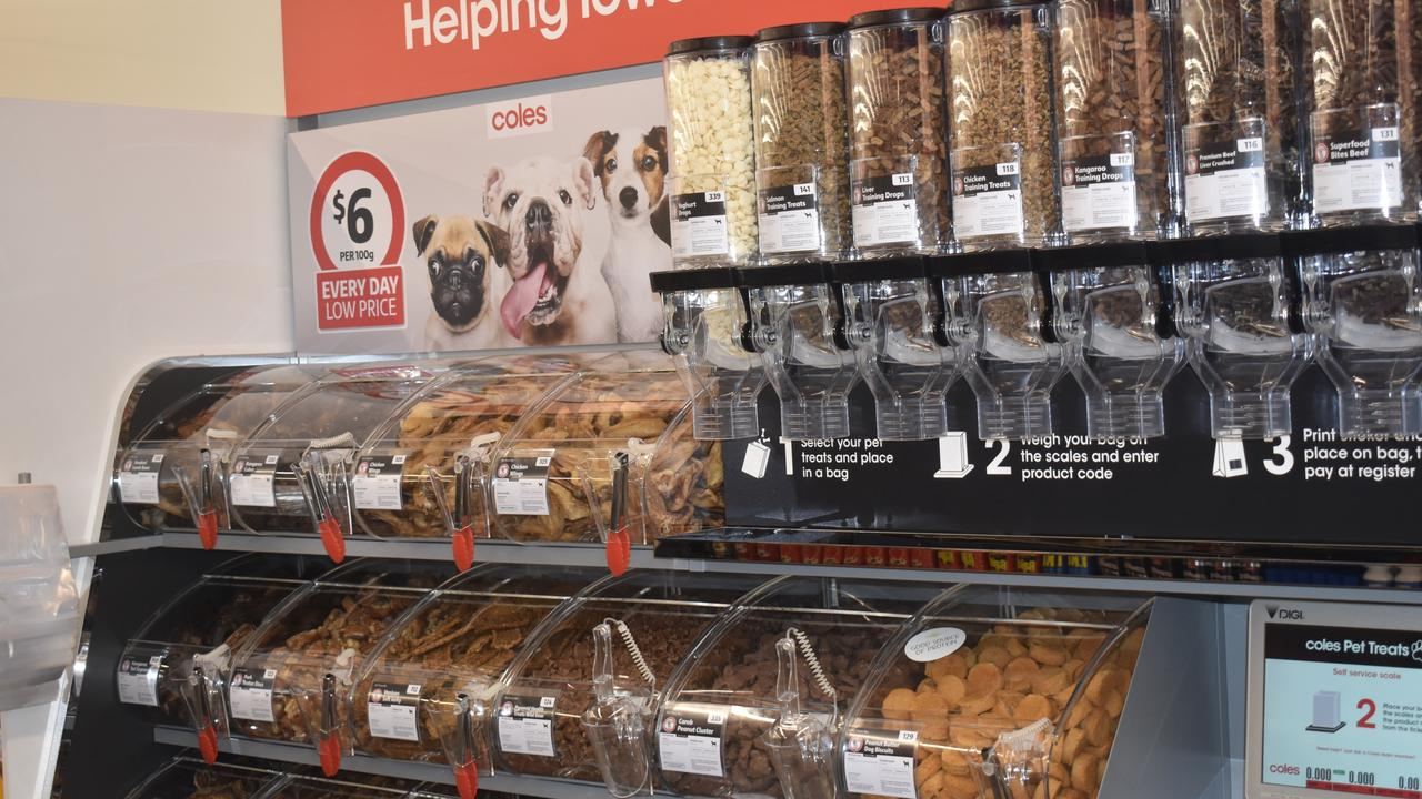 The pet food pick-and-mix bar is the first of its kind in the Ipswich region.
