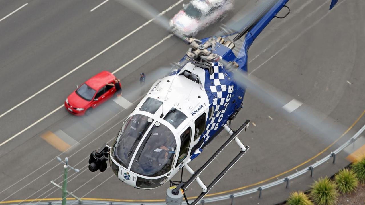 A Queensland Police POLAIR helicopter on the move. File image. Picture: Paul Sadler Photography/QPS