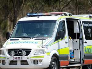Two hospitalised after truck smashes into car