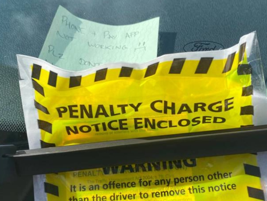 Jay said he had been upset to see the parking fine at first, but then later saw the funny side. Picture: Deadline News