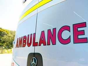 Man in his 70s hospitalised after cutting leg on grinder