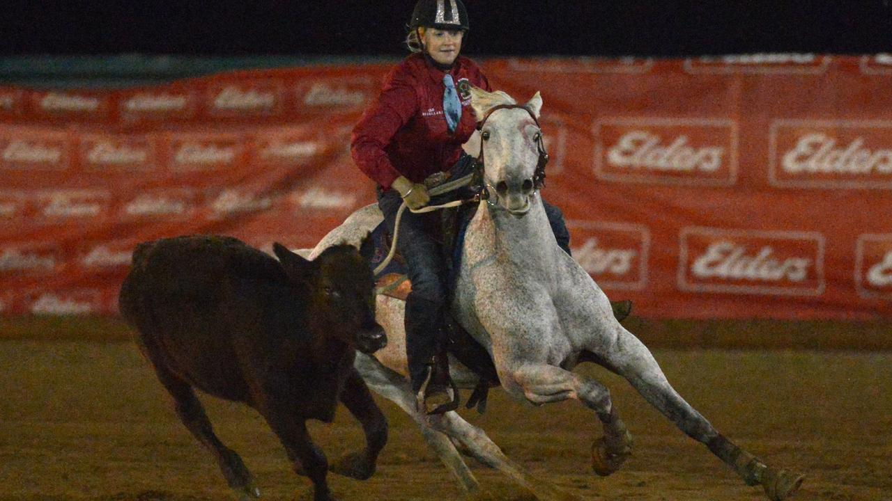Aimee Olive on Supernova for Queensland at last year's Paradise Lagoons Campdraft.