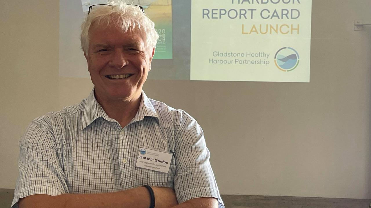 Professor Iain Gordon at a recent Gladstone Healthy Harbour Partnership event in Gladstone.