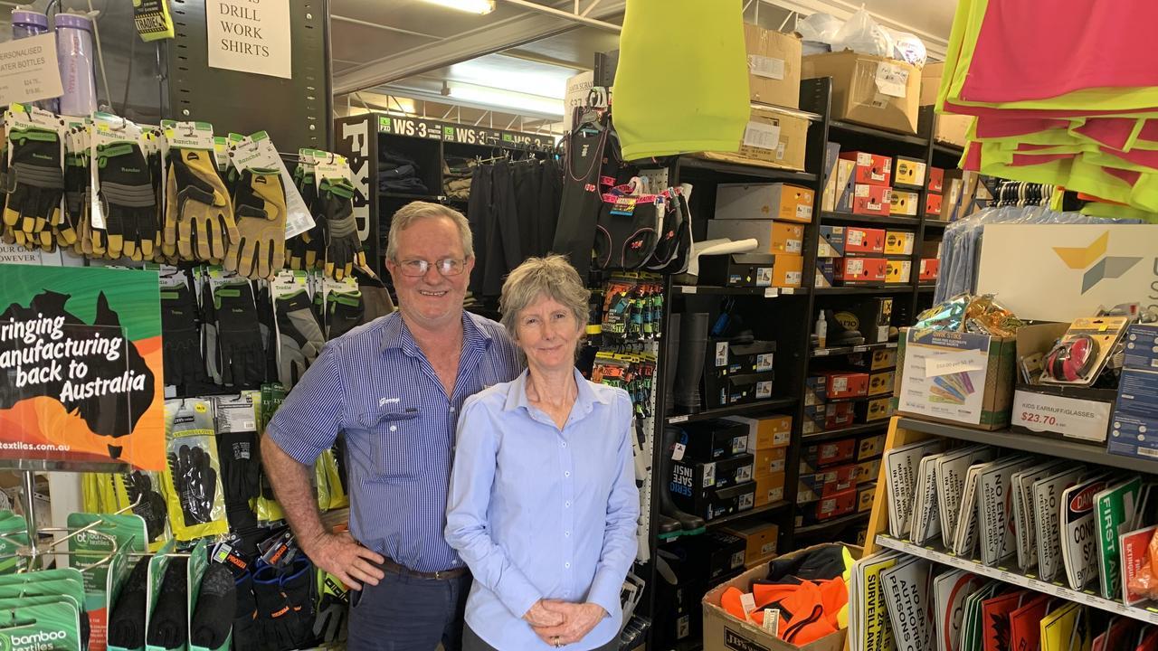 Jerry and Glenda Galligan of Ipswich Embroidery & Workwear.