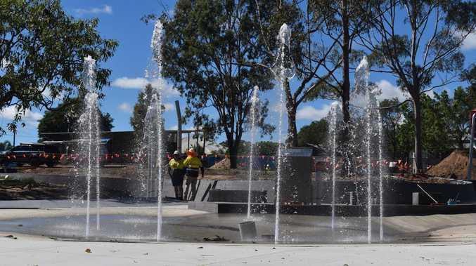 WATCH: Test run of water play park equipment at M'boro