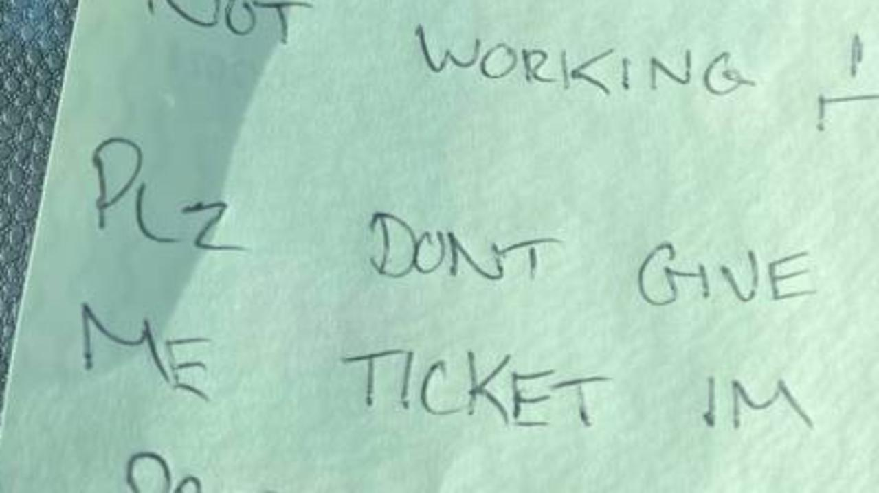 Jay Bentham was on his way to work when he realised he didn't have any change on him – prompting him to write a note that later blew up.