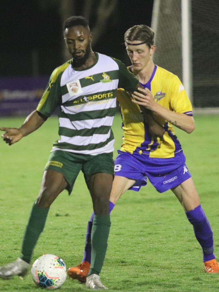 Western Pride footballer Will Assante scored his team's goal in the recent FFA Cup match. Picture: Christina Moran