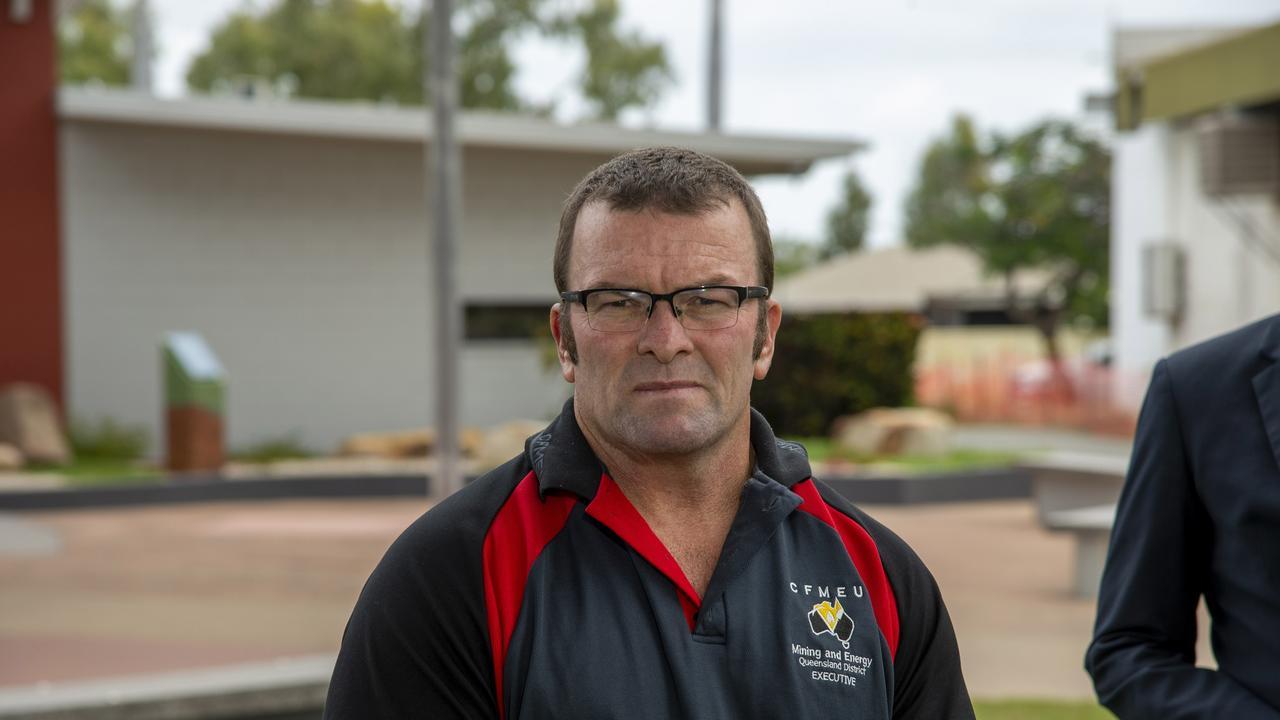CFMEU mining and energy Queensland president Stephen Smyth.