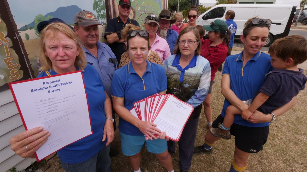 Save the Dawson group members with a survey about the Baralaba coal mine proposal that was distributed to the local community.