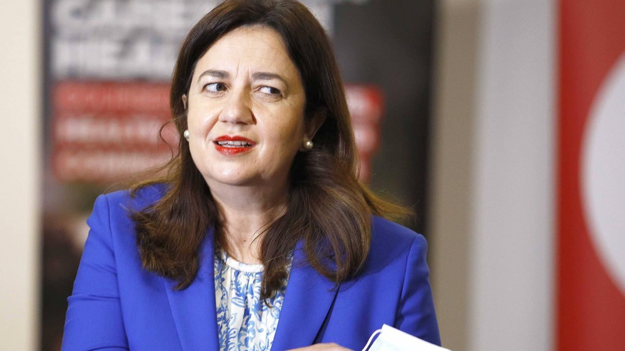 Queensland Premier Annastacia Palaszczuk mused whether there was a link between the Pfizer vaccine and an elderly woman's death. Picture: Tertius Pickard