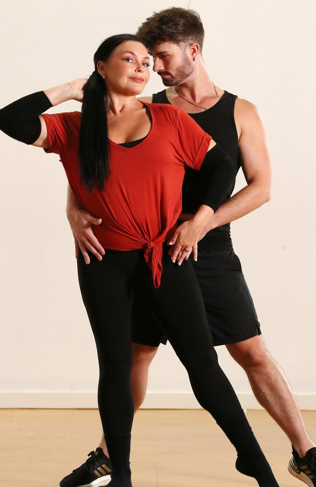 Schapelle Corby with her dance partner Shae Mountain rehearsing for Dancing with the Stars, MacGregor. Photographer: Liam Kidston