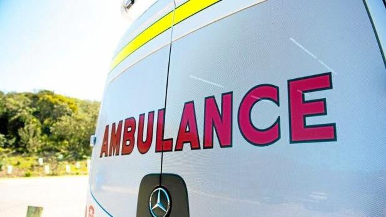 Ambulance crews are at the scene of a two-car crash on the Warrego Highway.