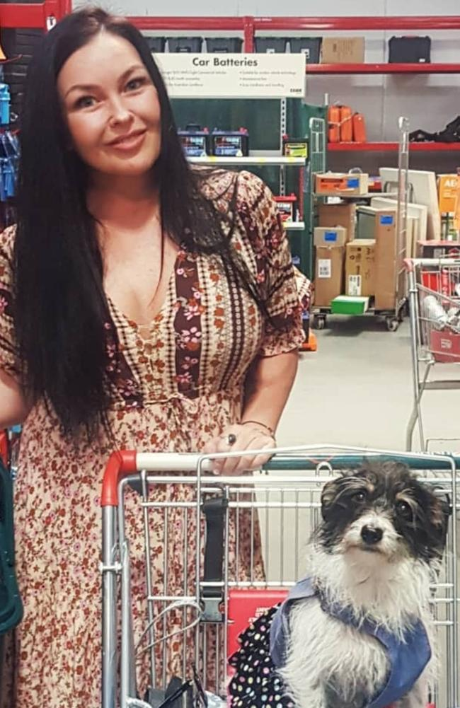 Schapelle Corby shopping with her dog. Picture: Instagram