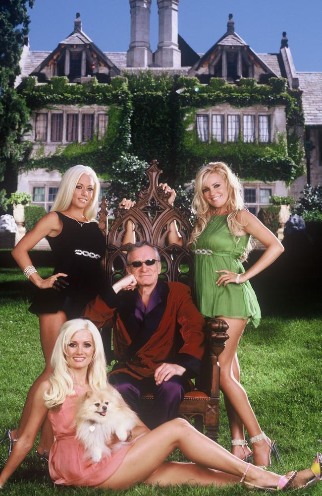 Holly and Kendra starred in a Playboy mansion-set reality show with Hugh.