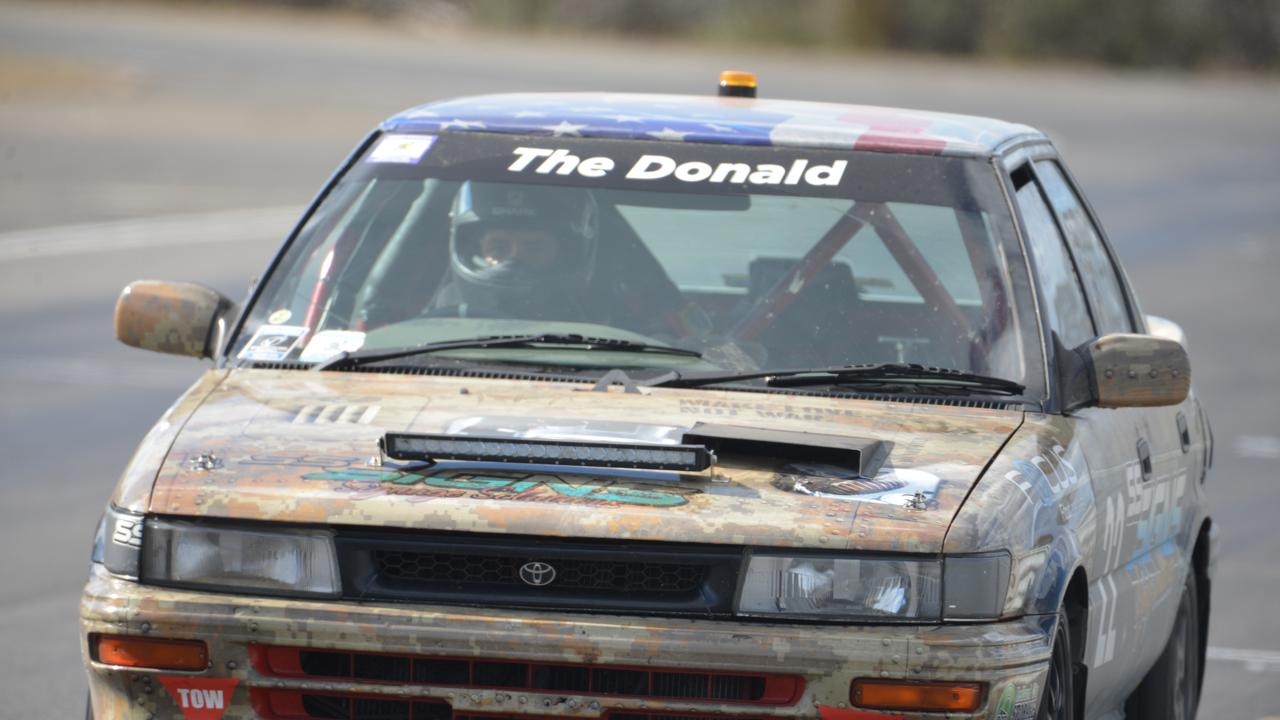 The Donald car, named after former US president Donald Trump, at Morgan Park Raceway. Picture: Gerald Walsh