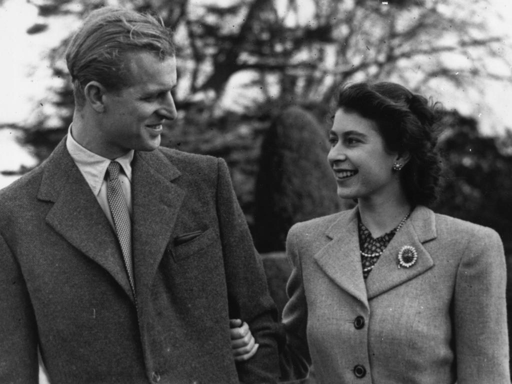 Prince Philip and the Queen, on their honeymoon in Hampshire, had the longest marriage of any British sovereign. Picture: Getty