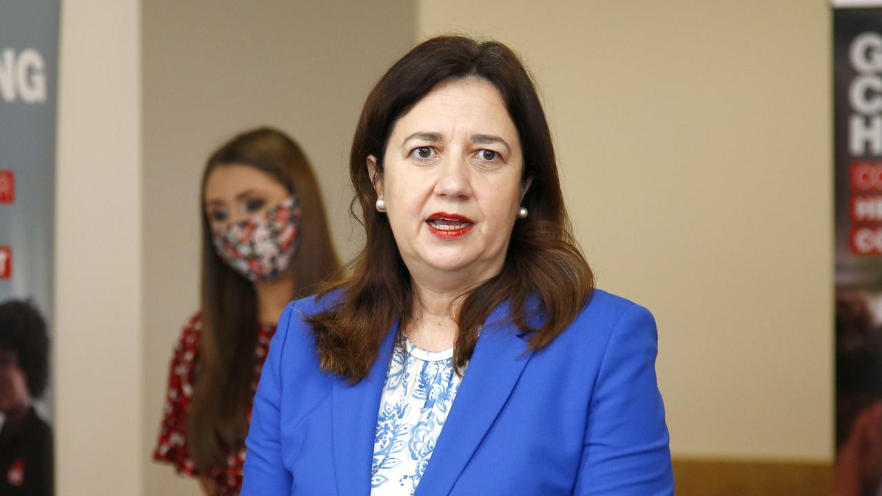 Queensland Premier Annastacia Palaszczuk has confirmed Queensland has only had one new COVID case detected in hotel quarantine. Picture: Tertius Pickard