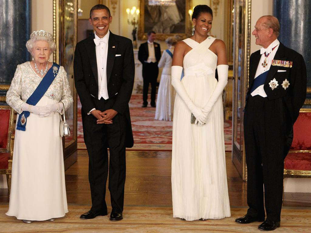 "The Queen and Prince Philip greet then US President Barack Obama and first lady Michelle Obama at Buckingham Palace ahead of a state banquet in May 2011. The following month, as he marked his 90th birthday, Philip talked about stepping back from public life. ""I reckon I've done my bit so I want to enjoy myself a bit now, with less responsibility, less frantic rushing about, less preparation, less"