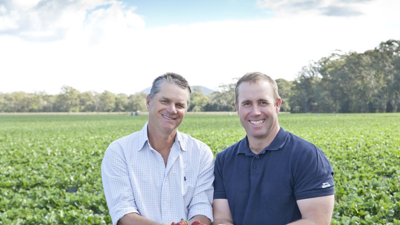 Jon Carmichael and Brendon Hoyle at Ashbern Farms.