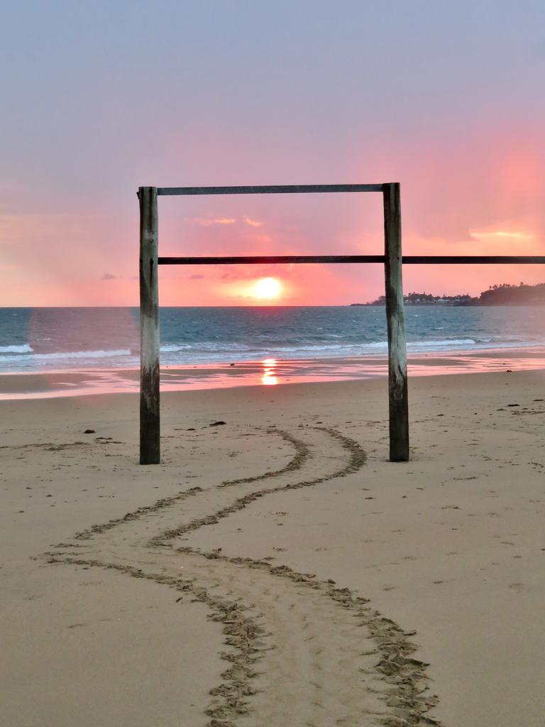 Joely Whiting snapped this beautiful photo of turtle tracks at Bucasia Beach earlier in the year.